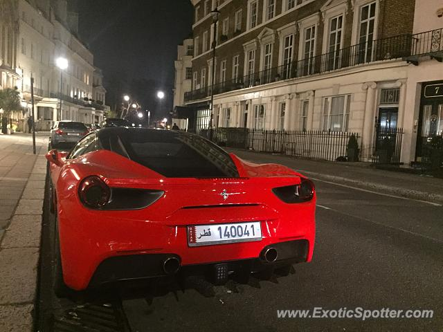 Ferrari 488 GTB spotted in London, United Kingdom