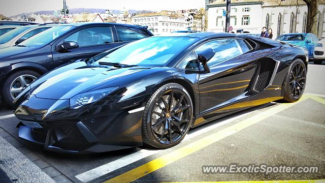 Lamborghini Aventador Spotted In Zurich Switzerland On 04