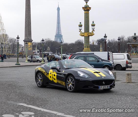 Ferrari California Spotted In Paris, France On 03/14/2016