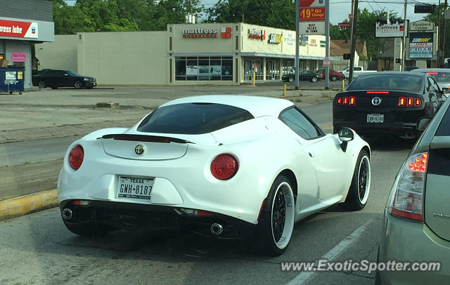 Alfa Romeo 4C spotted in Houston, Texas