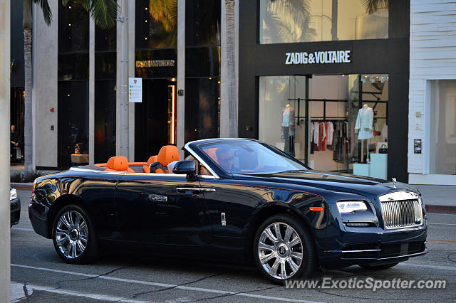 rolls royce dawn spotted in beverly hills california on 04 30 2016. Black Bedroom Furniture Sets. Home Design Ideas