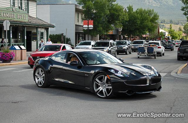 Fisker Karma spotted in Canmore, Canada