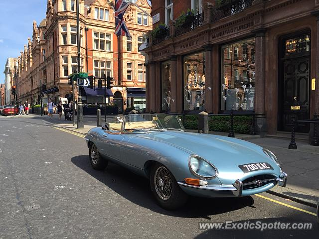 Jaguar E-Type spotted in London, United Kingdom