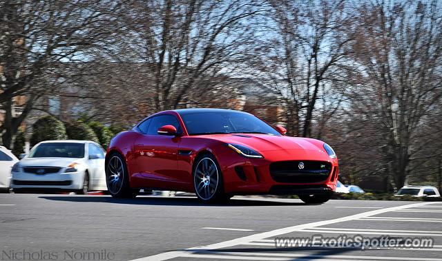 jaguar f type spotted in charlotte north carolina on 01 30 2016. Black Bedroom Furniture Sets. Home Design Ideas
