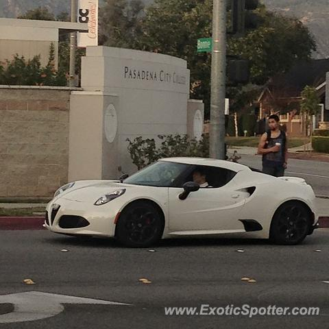 Alfa Romeo 4C spotted in Pasadena, California