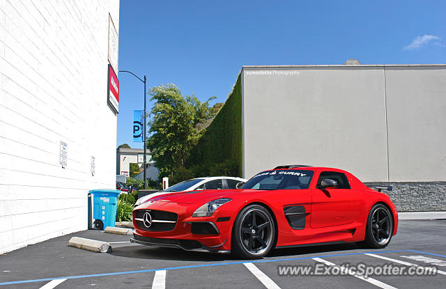 Mercedes sls amg spotted in burlingame california on 05 for Mercedes benz burlingame