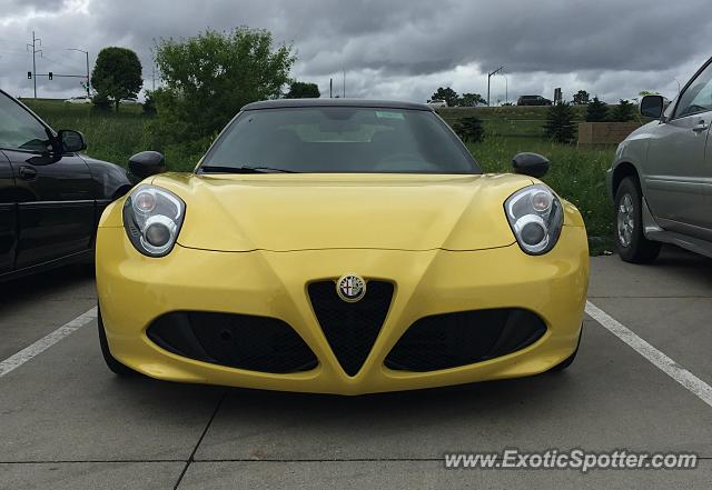 Alfa Romeo 4C spotted in Grimes, Iowa