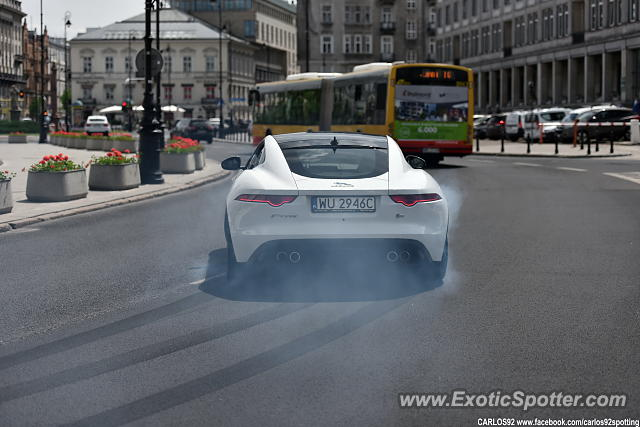 Jaguar F-Type spotted in Warsaw, Poland