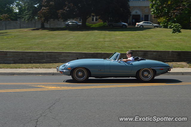 Jaguar E-Type spotted in Summit, New Jersey