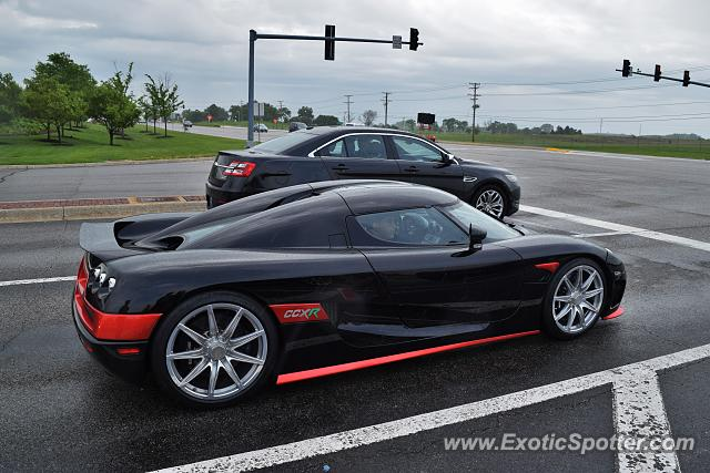 Koenigsegg CCXR spotted in South Barrington, Illinois