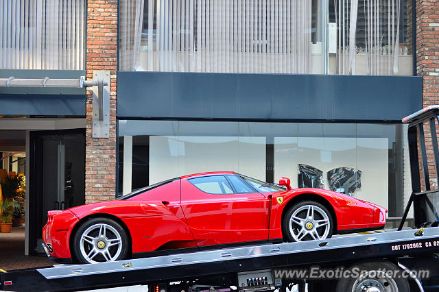 Ferrari Enzo spotted in Beverly Hills, California