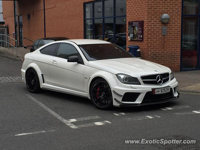 Mercedes c63 amg black series spotted in leicester united for Mercedes benz united kingdom