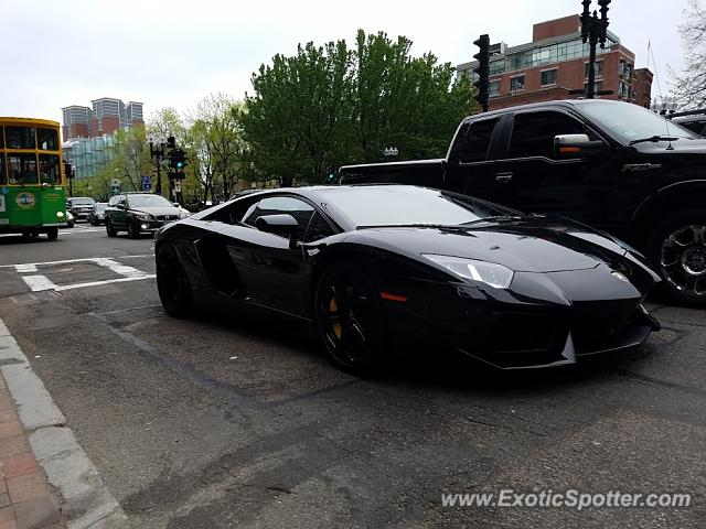 Lamborghini Aventador spotted in Boston, Massachusetts