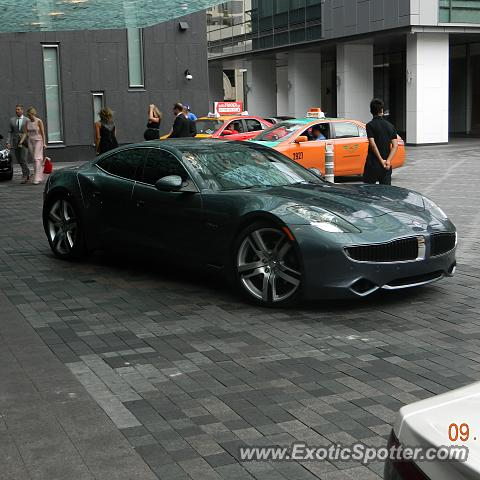 Fisker Karma spotted in Toronto, Canada