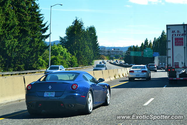 Ferrari 599GTB spotted in Oregon City, Oregon