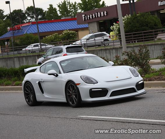 Porsche Cayman GT4 Spotted In Bloomington, Indiana On 08