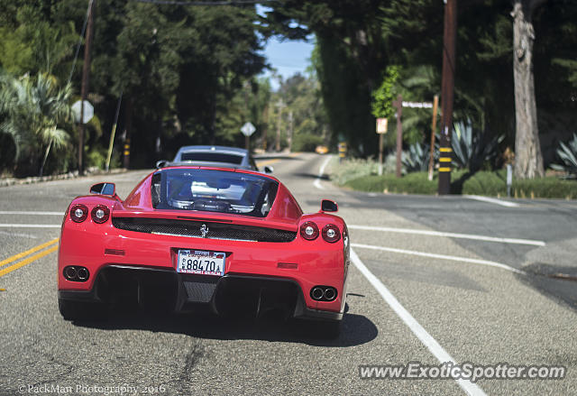 Ferrari Enzo spotted in Montecito, California