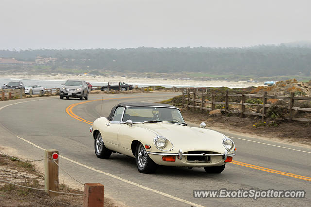 Jaguar E-Type spotted in Pebble Beach, California