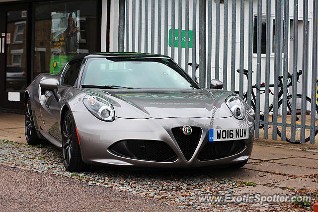 Alfa Romeo 4C spotted in Cambridge, United Kingdom