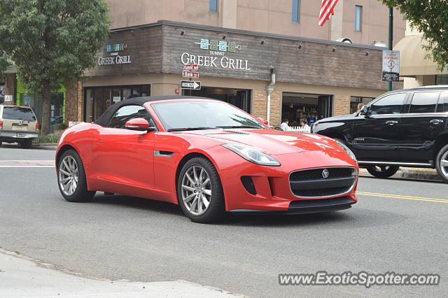 Jaguar F-Type spotted in Summit, New Jersey