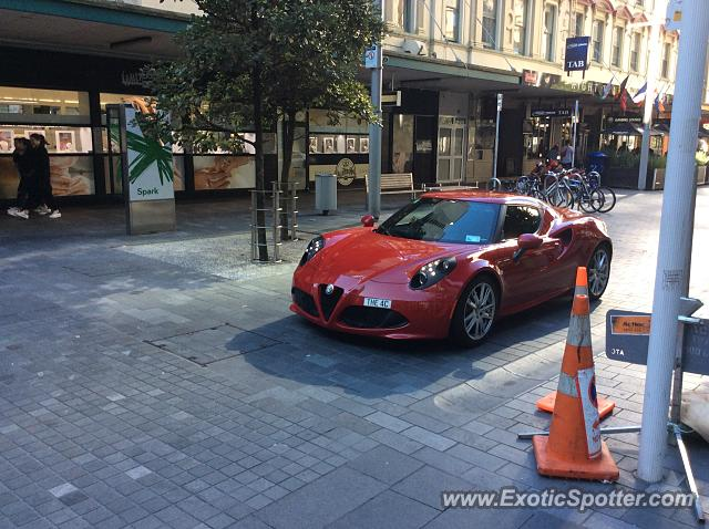 Alfa Romeo 4C spotted in Auckland, New Zealand