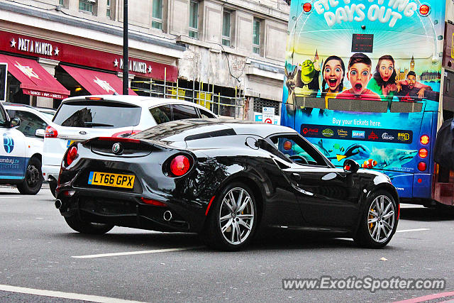Alfa Romeo 4C spotted in London, United Kingdom