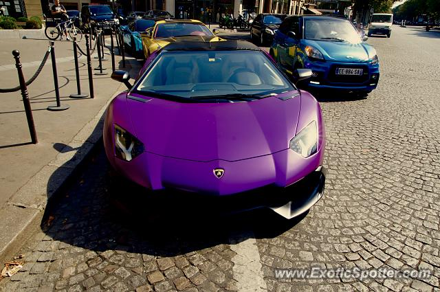 lamborghini aventador spotted in paris france on 09 06 2016 photo 2. Black Bedroom Furniture Sets. Home Design Ideas