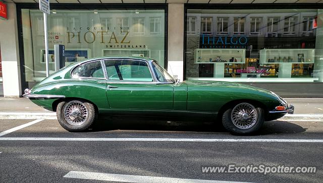 Jaguar E-Type spotted in Züricj, Switzerland