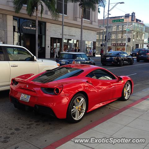 ferrari 488 gtb spotted in beverly hills california on 10. Cars Review. Best American Auto & Cars Review