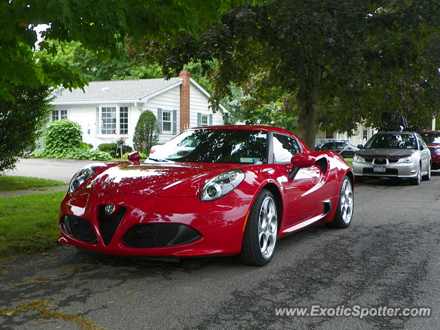 Alfa Romeo 4C spotted in Watkins Glen, New York