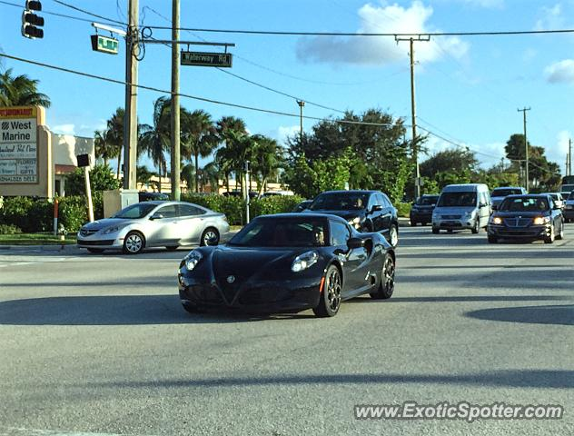 Alfa Romeo 4C spotted in Tequesta, Florida