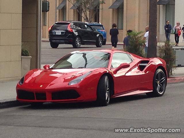 ferrari 488 gtb spotted in beverly hills california on 11. Cars Review. Best American Auto & Cars Review