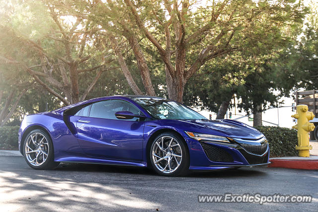 Acura NSX spotted in Newport Beach, California