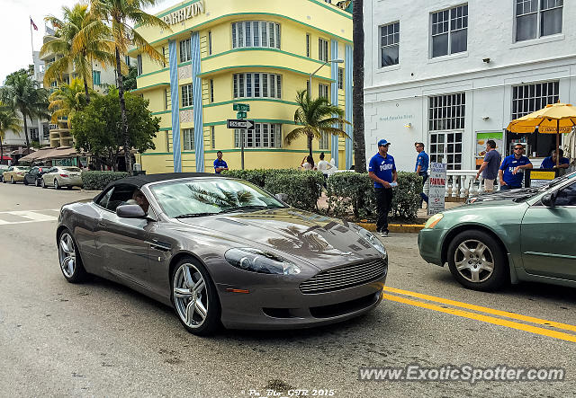 Aston Martin DB Spotted In Miami Beach Florida On - Aston martin florida