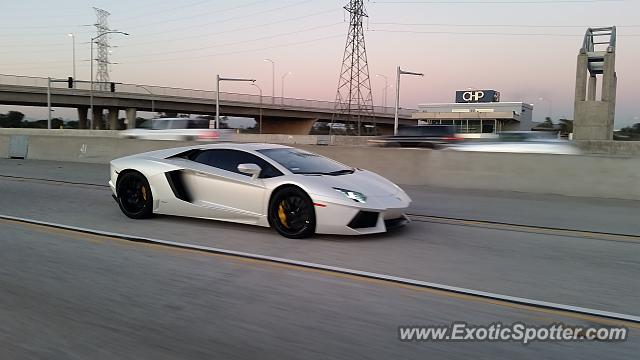 Lamborghini Aventador spotted in Los Angeles, California