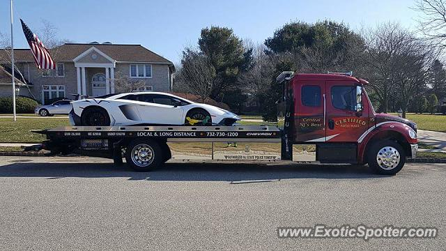 Lamborghini Aventador spotted in Allenwood, New Jersey