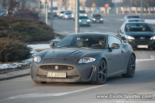 Jaguar XKR-S spotted in Warsaw, Poland