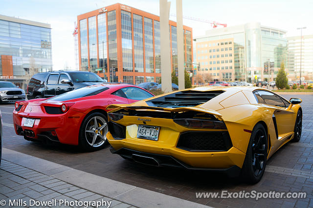 Lamborghini Aventador spotted in Cherry Creek, Colorado