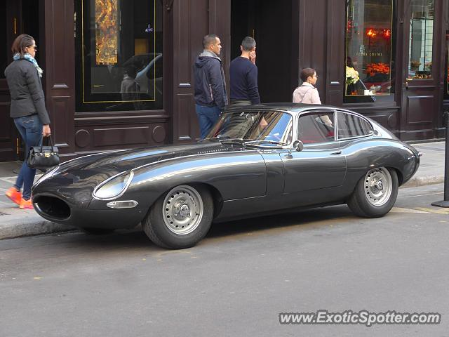 Jaguar E-Type spotted in Paris, France