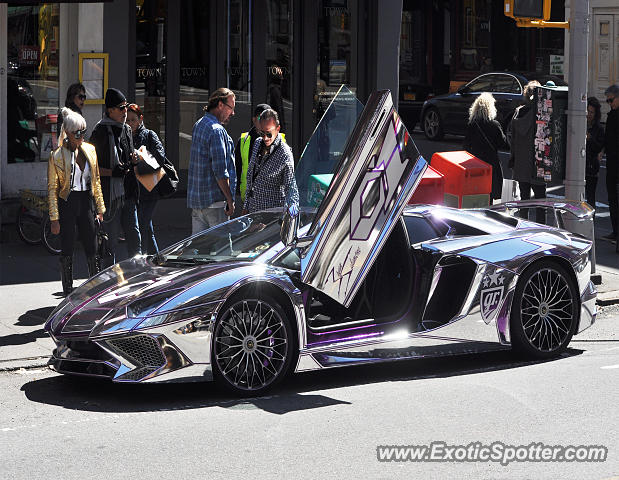 lamborghini aventador spotted in manhattan new york on 04 02 2017. Black Bedroom Furniture Sets. Home Design Ideas