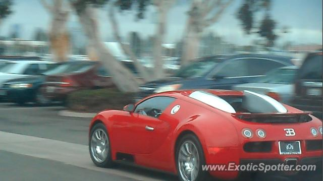 Bugatti Veyron spotted in San Diego, California