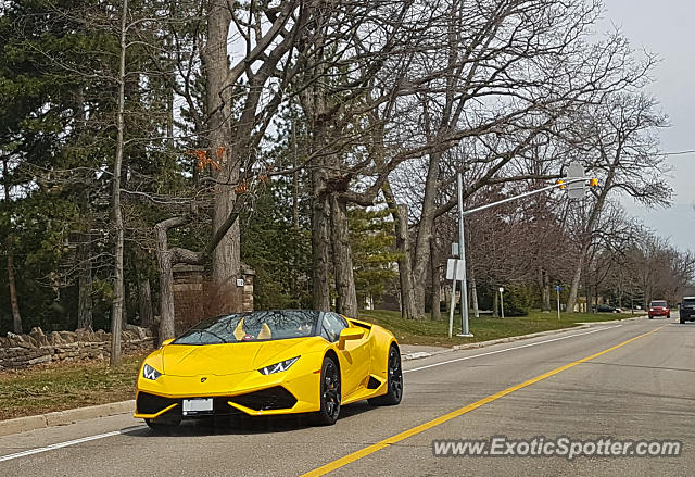 Lamborghini Huracan spotted in Mississauga, ON, Canada