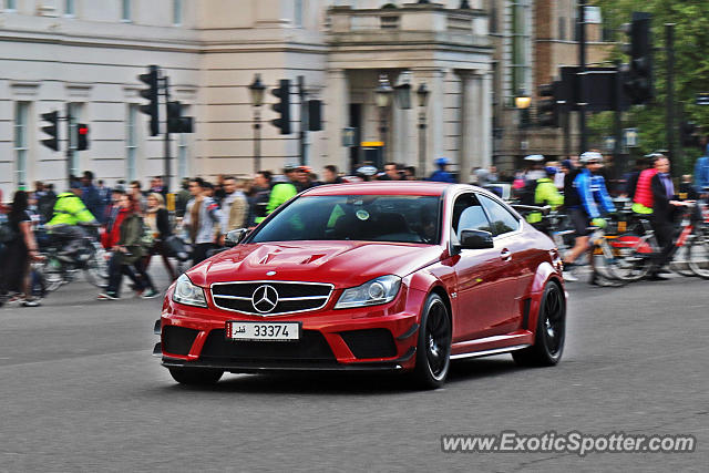 Mercedes c63 amg black series spotted in london united for Mercedes benz united kingdom
