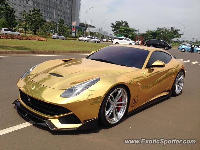 Ferrari F12 spotted in Serpong, Indonesia