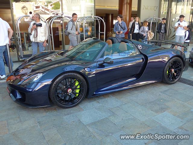 porsche 918 spyder spotted in monaco monaco on 04 22 2017. Black Bedroom Furniture Sets. Home Design Ideas