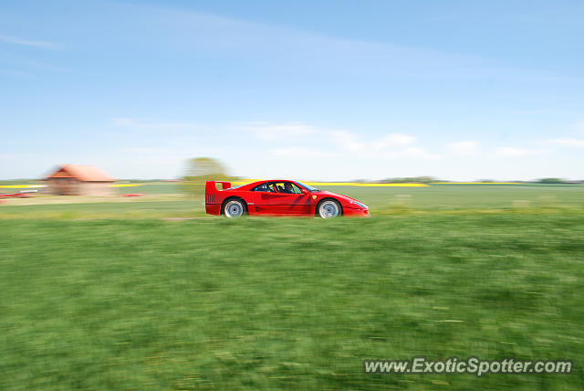 Ferrari F40 spotted in Some field, Sweden