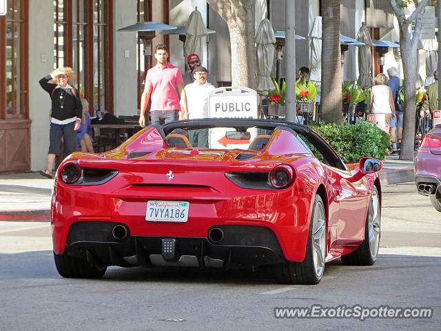 ferrari 488 gtb spotted in beverly hills california on 05. Cars Review. Best American Auto & Cars Review