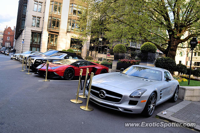 Mercedes SLS AMG spotted in London, United Kingdom