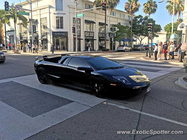 Lamborghini Murcielago spotted in Beverly Hills, California