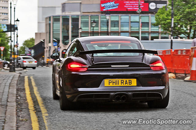 Porsche Cayman GT4 spotted in Birmingham, United Kingdom
